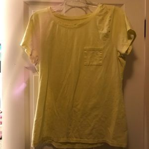 Hanes womens shirt with pocket large nice yellow